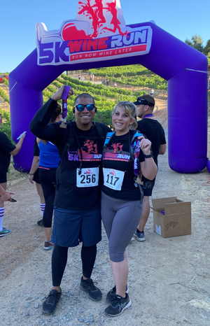 Alex Davis finishes Wise Villa Winery 5K for Special Olympics Northern California